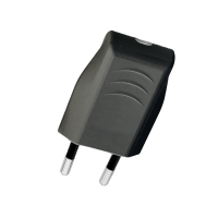 TWO PIN PLUG 6A BLACK