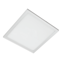 LED PANEL SQUARE  45W WHITE 595MM/595MM, IP44 WHITE FRAME