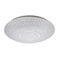LUCE LED CEILING LAMP 36W WITH REMOTE CONTROL CHROME