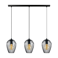 ADRIA CHANDELIER 3XE27 BLACK