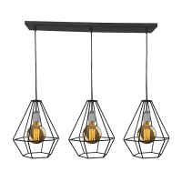HEIDI CHANDELIER 3xE27 BLACK