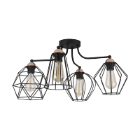 POLLY CEILING LAMP 4xE27 BLACK