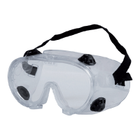 GOGGLES WITH FLAT VISOR WHITE