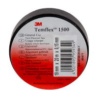 TEMFLEX 1500 ELECTRICAL TAPE 20M/19MM BLACK