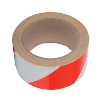 520BRSSHD SIGNAL TAPE 100M/50MM RED-WHITE