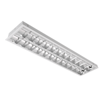 LIGHTING FIXTURE LENA-V WITH LED TUBE(1200MM) 2X18W 6200K BM 1195/295 TYPE V