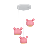 MICKEY CHANDELIER 3XE14 PINK
