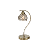 LIZA TABLE LAMP 1XE14 ANTIQUE BRASS H330mm