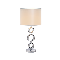 MAYA TABLE LAMP 1XE27 CHROME D300XH650mm