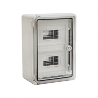 PP3112 BOARD ABS-TRANSPARENT DOOR-18 MODULES IP65